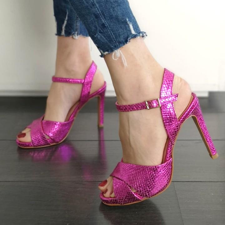 pantofi-cu-toc-roz